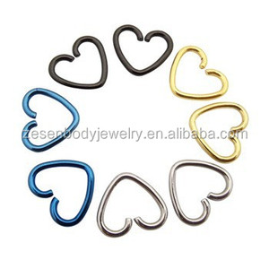Heart Daith Piercing Fake Septum Ring Ear Cartilage Tragus Nose Hoop Body Jewelry