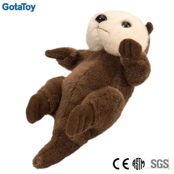 Hot Sale Custom Stuffed Sea Otter Toy Plush Sea Otter Soft Toy Brown