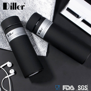 Diller Water Bottle Custom Double Wall Insulated Stainless Steel Metal Thermal Vaccum Vacuum Flask Tea Thermos