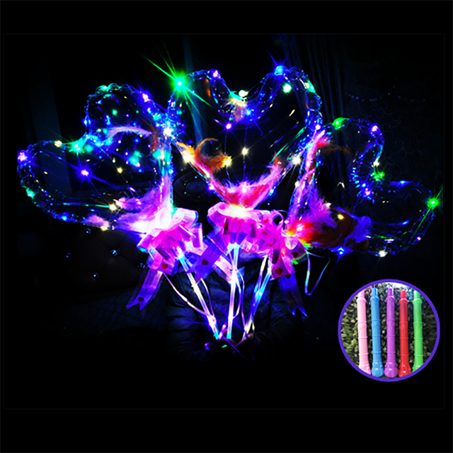 2019 Hot Verkopen Plastic Bobo Bal Opblaasbare Led Verlichting Helium Ballon Voor Party Pvc Transparant Led Bubble Bobo