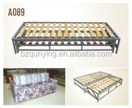 High quality manually wooden sofa bed frame with grey coating