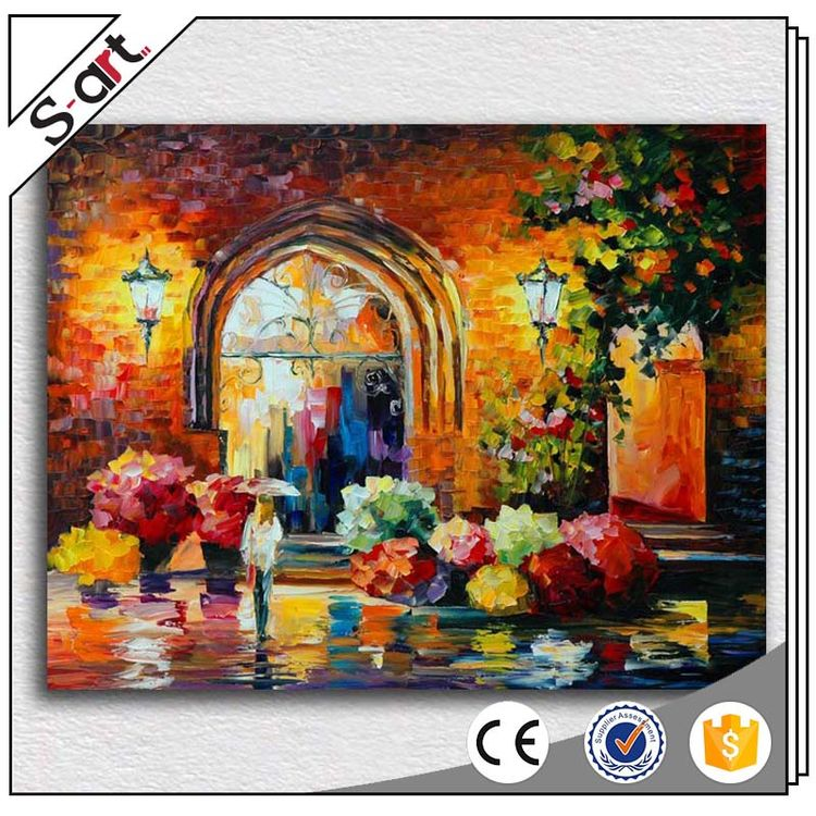 Best quality import grade fashion design knife flower oil painting