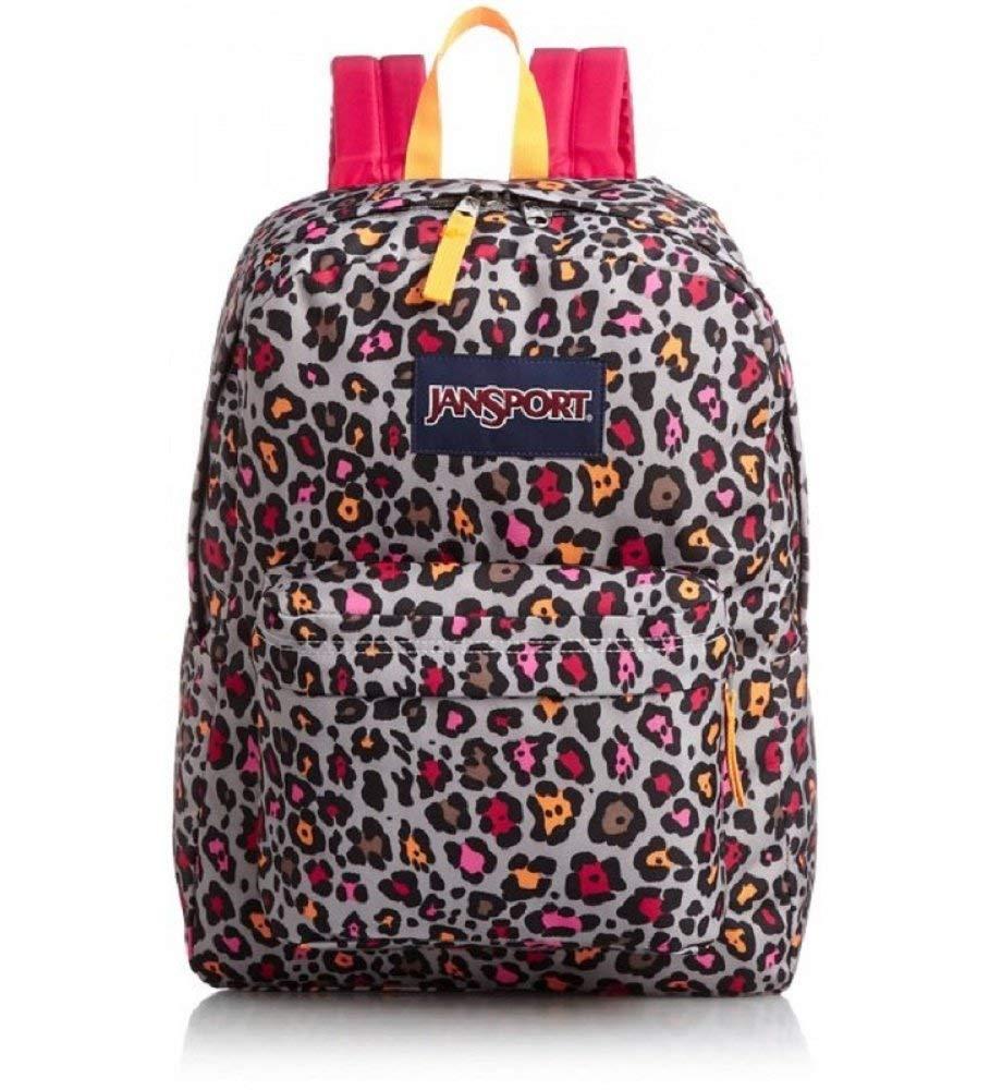 fc2bd21af9 Get Quotations · JanSport Classic Superbreak Backpack Grey Rabbit Lucy  Leopard
