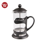 Stainless Steel and Borosilicate Glass french press coffee tea maker