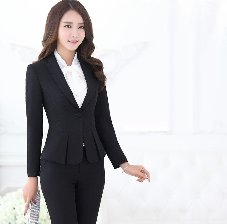 2019 Whole Formal Pant Suits For Women Business Office Work Black Blazer Las Uniform Styles Ol Pantsuits From