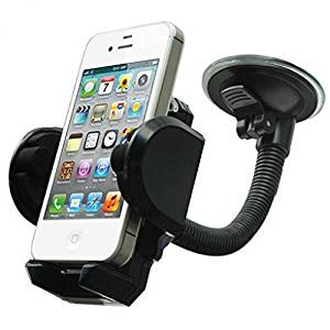 Car Mount Windshield Phone Holder Rotating Cradle Window Swivel Dock Stand Suction Gooseneck for Tracfone LG Premier LTE - Tracfone Samsung Galaxy Grand Prime - Tracfone Samsung Galaxy J1