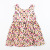 baby girls party dresses with sleeveless floral printed summer baby fashion clothing kids party dresses