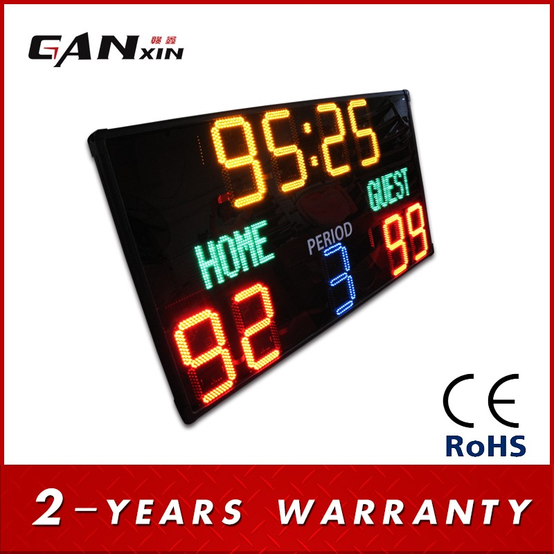 Ganxin cricket scoreboard for sale digital led scoreboard numbers cricket live full scoreboard