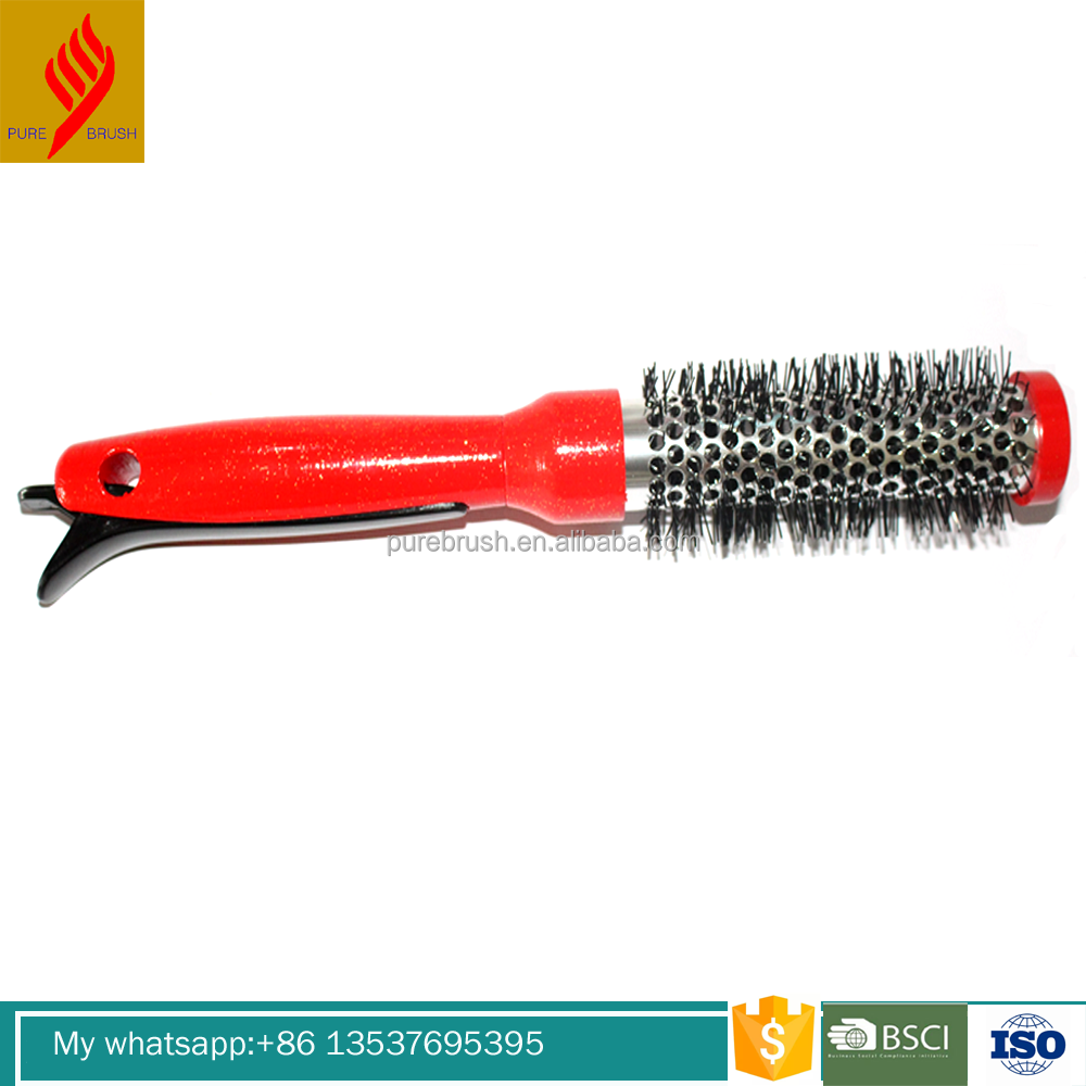 Electric round ceramic coating hair brush with private label