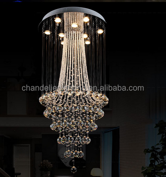 New design long crystal chandeliers with wholesale price and good new design long crystal chandeliers with wholesale price and good quality aloadofball Images