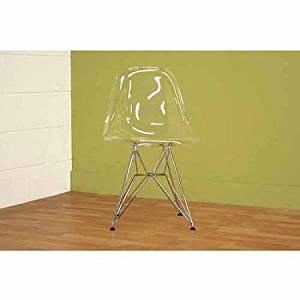 Wholesale Interiors Lexy Clear Accent Chair, Set of 2, Clear