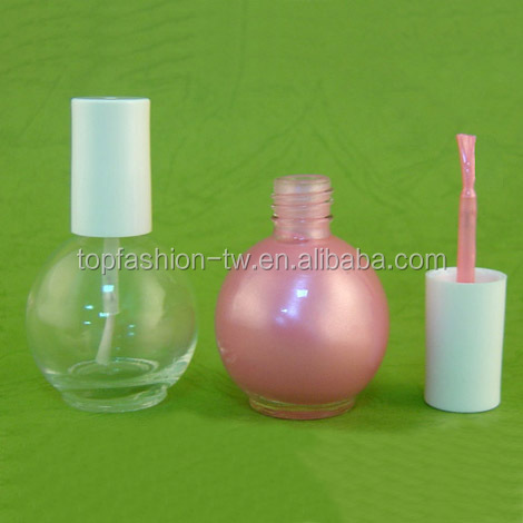 15 ml Nail Polish Glass Ball Bottle Nail Care Beauty Container Packaging
