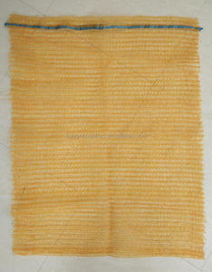 orange color polypropylene raschel mesh bags for potato onion ginger tomato