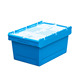 stackable Storage Plastic tote bins moving crate With Lid