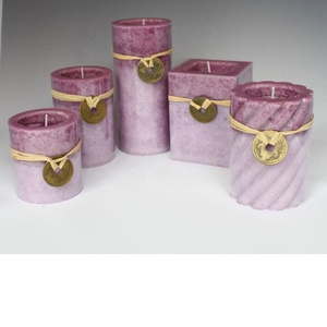 Purple style Paraffin Wax Material and Yes Handmade Home scented candles sets