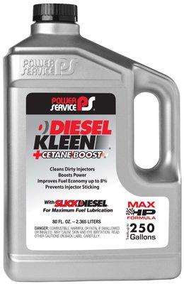 Power Service 03080-06 +Cetane Boost Diesel Kleen Fuel Additive - 80 oz.