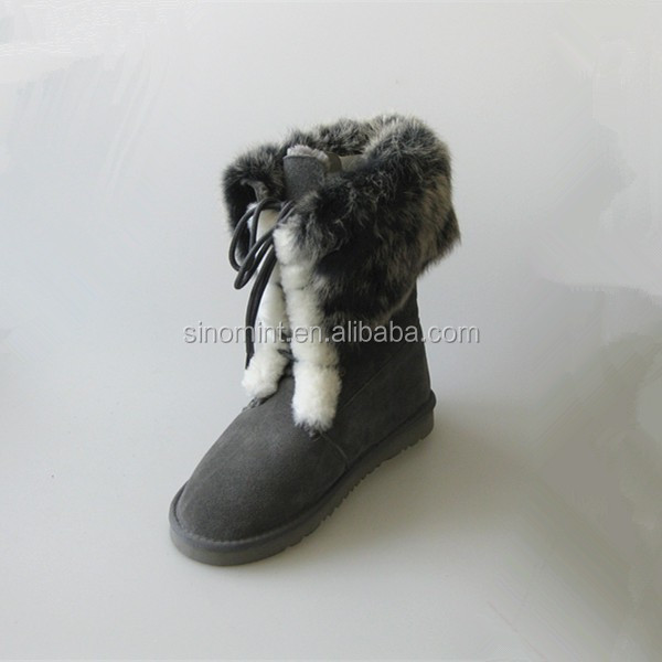 Woman motorcycle winter snow boot