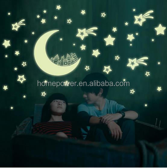 100PCS Home Glow In The Dark Stars Wall Stickers Decal for Kids Baby Rooms Sticker