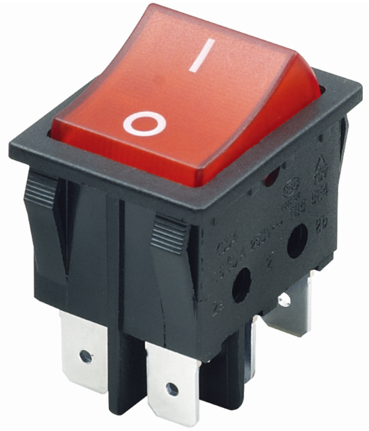 Waterproof Ul Vde Tuv Kema Enec 16a 250v Lighted Rocker Switch T105