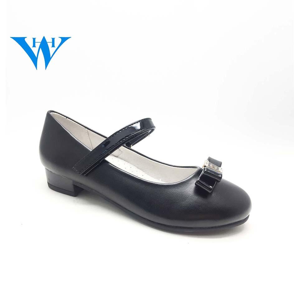 Little Girls High Heel School Shoes