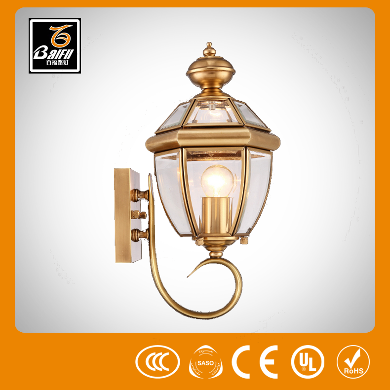 copper wall light waterproof wall light outdoor led wall lamp