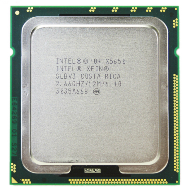 Intel Xeon X5650 SLBV3 Processor Six Core 2.66GHz LGA1366 12MB L3 Cache server CPU