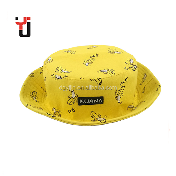 Cheap Custom Plain Summer Outdoor Women Kids Cotton Printed Bucket Hat