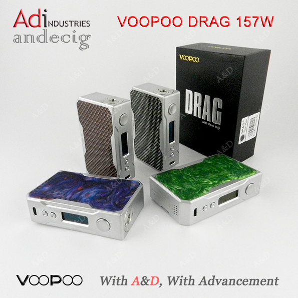2017 Wholesale Colorful Carbon Fiber Vape black version Voopoo Drag 157W Box Mod