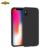 Full body liquid silicone gel rubber case for iphone x ultra slim with microfiber lining