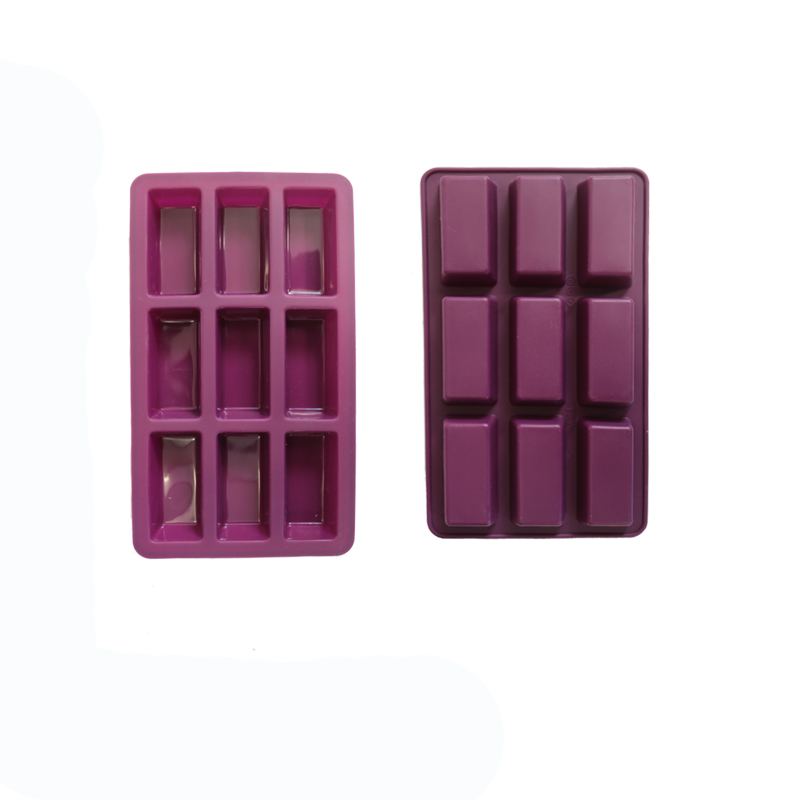 Custom Flexible 9-Cavity Square Silicone Mold for Soap, Cake, Bread, Cupcake, Cheesecake, Cornbread, Muffin, Brownie, and More