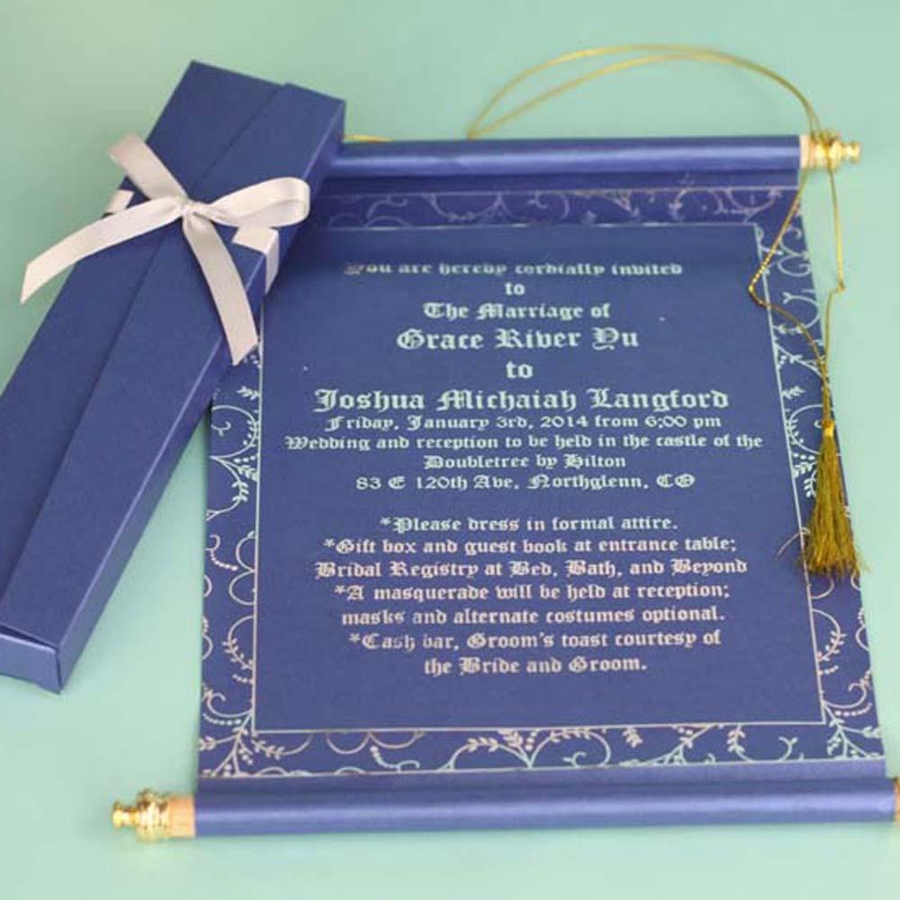 Wholesale Scroll Arabic Style Wedding Invitation With Box - Buy ...