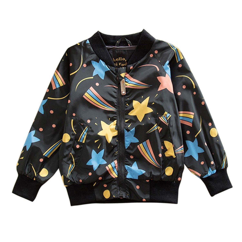Luxsea Winter Girl Boy Coat Star Print Clothes Kid Warm Girl Boy Coat Ume Jacket