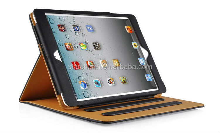 Data 100% Correct Paypal Acceptable Tan Leather Case for ipad 6