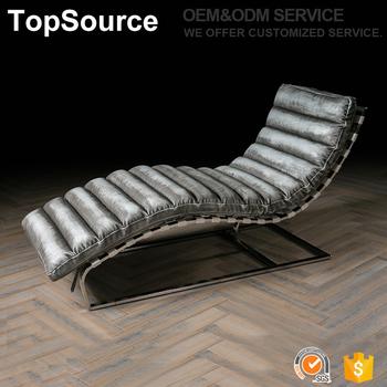 Modern High Density Foam Furniture Vintage Pu Recliner Sun Lounge Chair