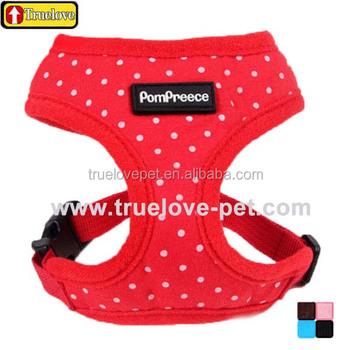 Truelove Cute Dotted Dog Harness Comfort Dog Harness Truelove Dog