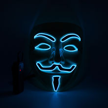 Halloween Licht Up Prinses Ghost Brief V El <span class=keywords><strong>Masker</strong></span> Flash Neon Geluid Acctrative Party <span class=keywords><strong>Masker</strong></span> Voor Cosplay