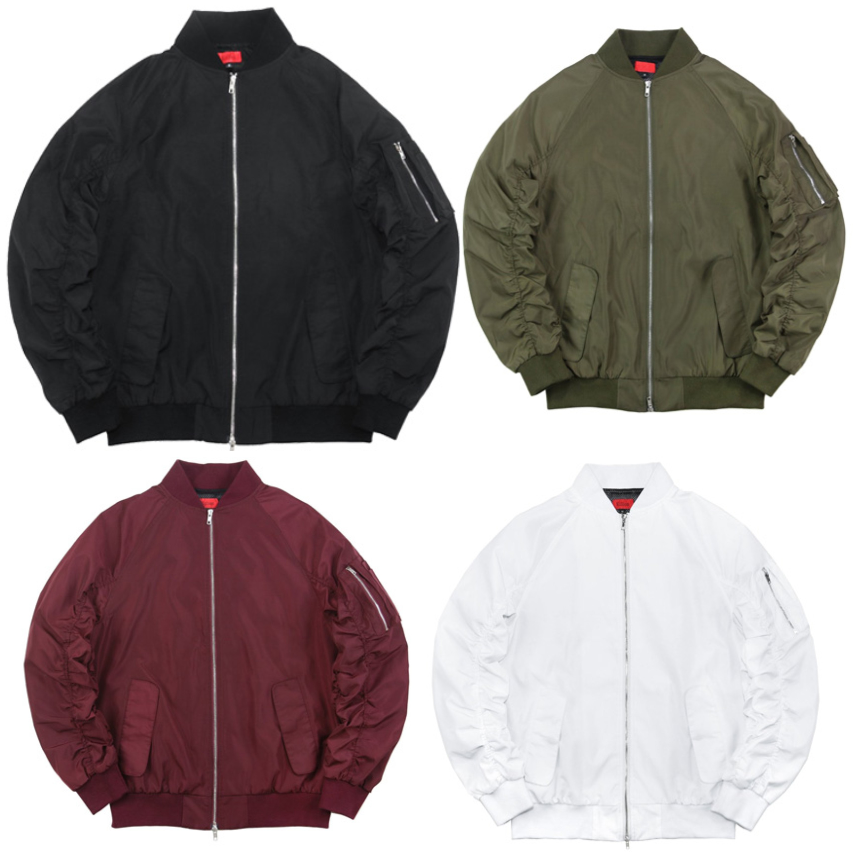 Free Sample Stock Wholesale Raglan Sleeve Edition MA 1 Flight Men Bomber Jacket
