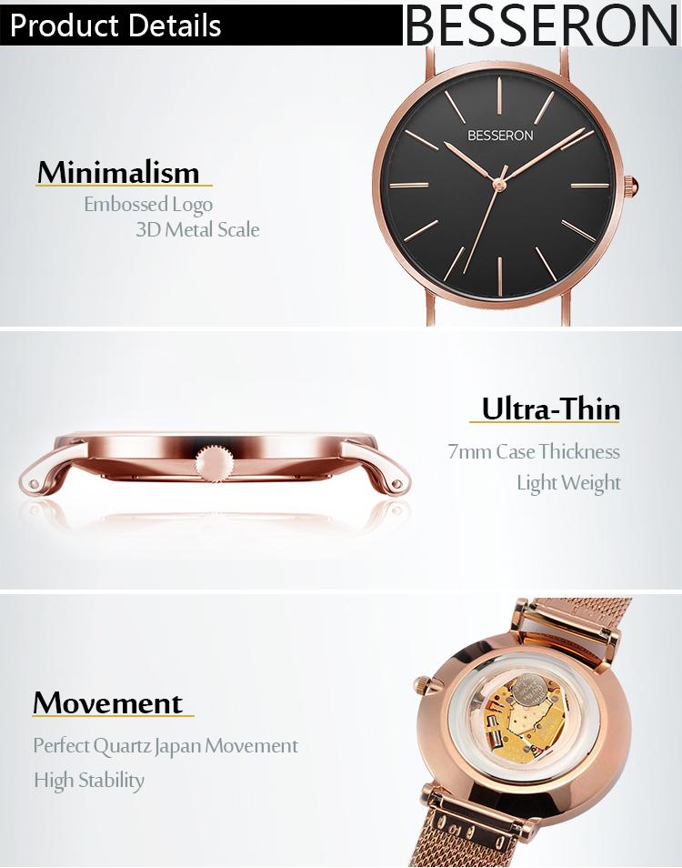 Design unico Orologi Al Quarzo di Marca Singapore Movimento Prezzo di Vigilanza Delle Donne