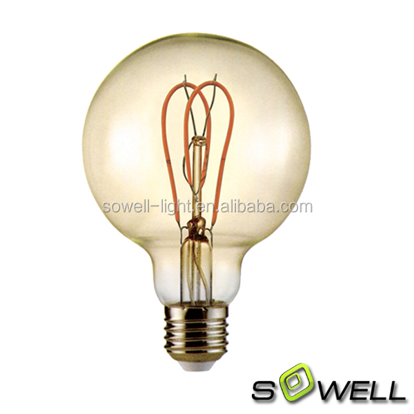 <strong>LED</strong> - Filament Type - 3.5 Watt - G95 Globe - 2 in. Diameter - 40 Watt Equal - 2400K Warm White - Dimmable