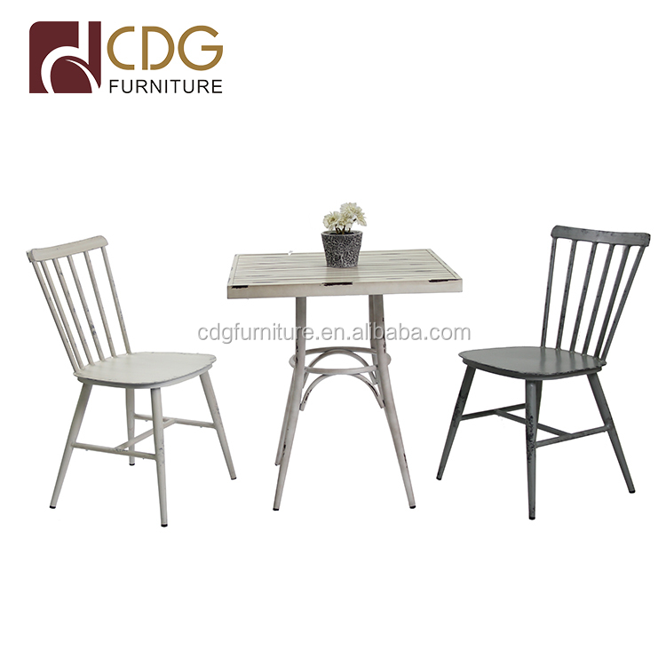 Wholesale Modern Dining Restaurant Party Cafe Table Vintage Outdoor Garden  Aluminium Table Furniture