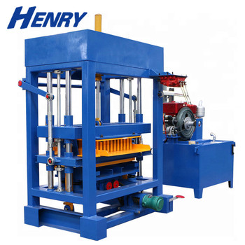 youtube search QT4-30 diesel engine Low cost hydraulic paving block making machine automatic brick maker machine price in india
