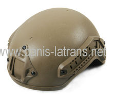 TAN Combat assault tactical military army police protective Helmet with NVG mount and side rail