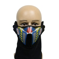Music Led Flashing EL Party Costume Mask with Sound Active for Dancing