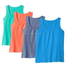 100% Cotton Girls Summer Clothing Wholesale Boutique Sleeveless Jersey Knit Scoop Neckline Solid Tank Top For Teen Girls