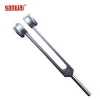 128hz medical tuning fork with frequency adjustable wheel