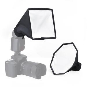 Kaliou 20cm Universal Mini Softbox Flash Diffuser Portable Camera On-top Soft Box 8 Square Photo Studio Soft Tent for Camera