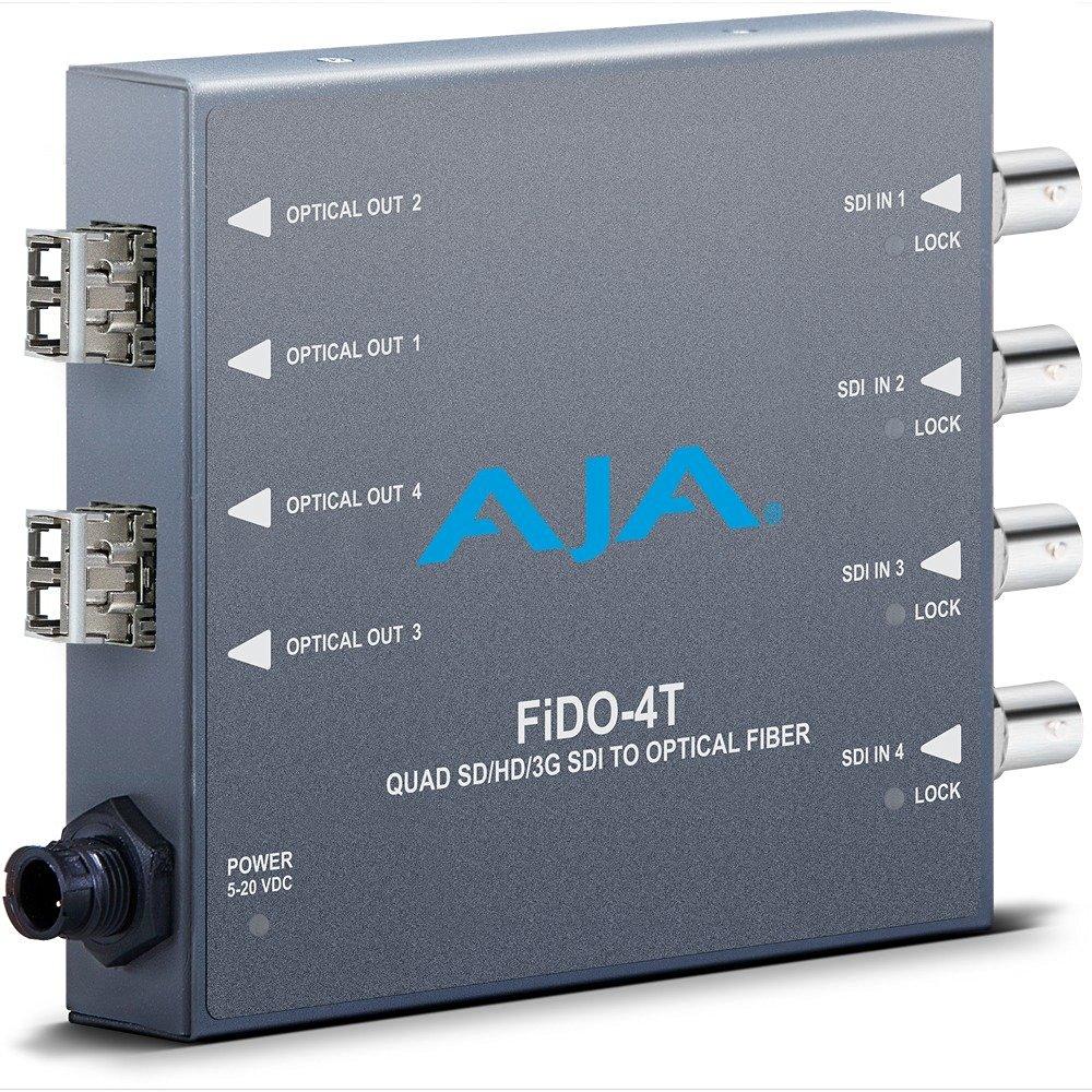 AJA FiDO-4T Quad SD/HD/3G SDI to Optical Fiber Mini Converter (FIDO-4T)