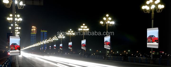 Signic Street Signage-Lamp Post Display P6 Street Advertising Pole LED Billboard Fixed LED Video Screen Board