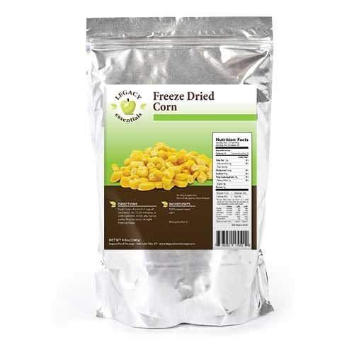 Legacy Essentials Freeze Dried Corn Niblets - 15 Year Shelf Life for Emergency Survival Food Storage Supply - Disaster Preparedness (Quantity 1)