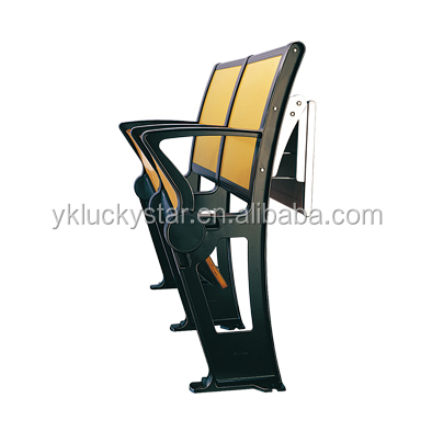 school hall MDF chair folding college school desk and chair stadium seat